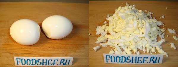 натёртые яйца