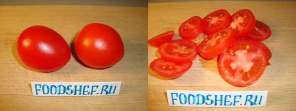 помидоры кольцами