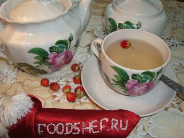 клубничный чай