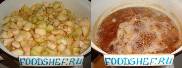 варим варенье из яблок мельба
