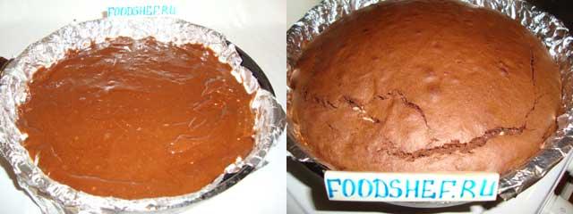 выпекаем пирог брауни