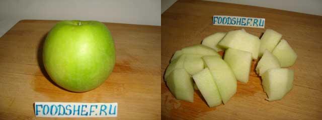 яблоко кубиком