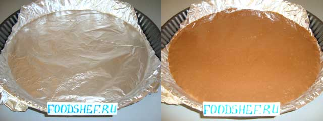 в форму наливаем тесто
